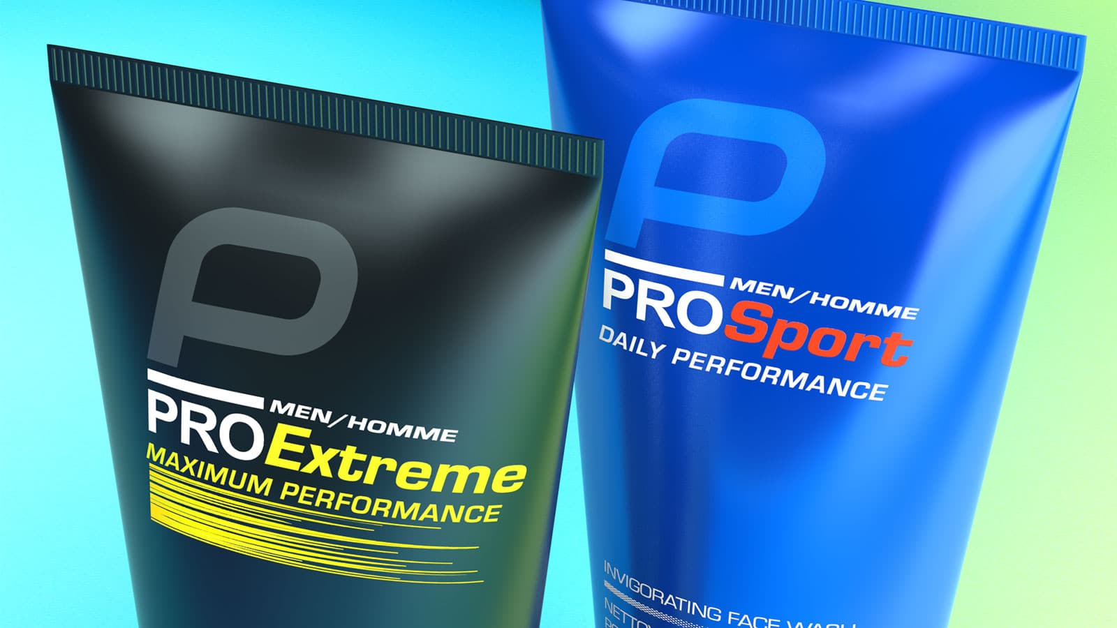 Avon Pro Sport and Pro Extreme packaging design