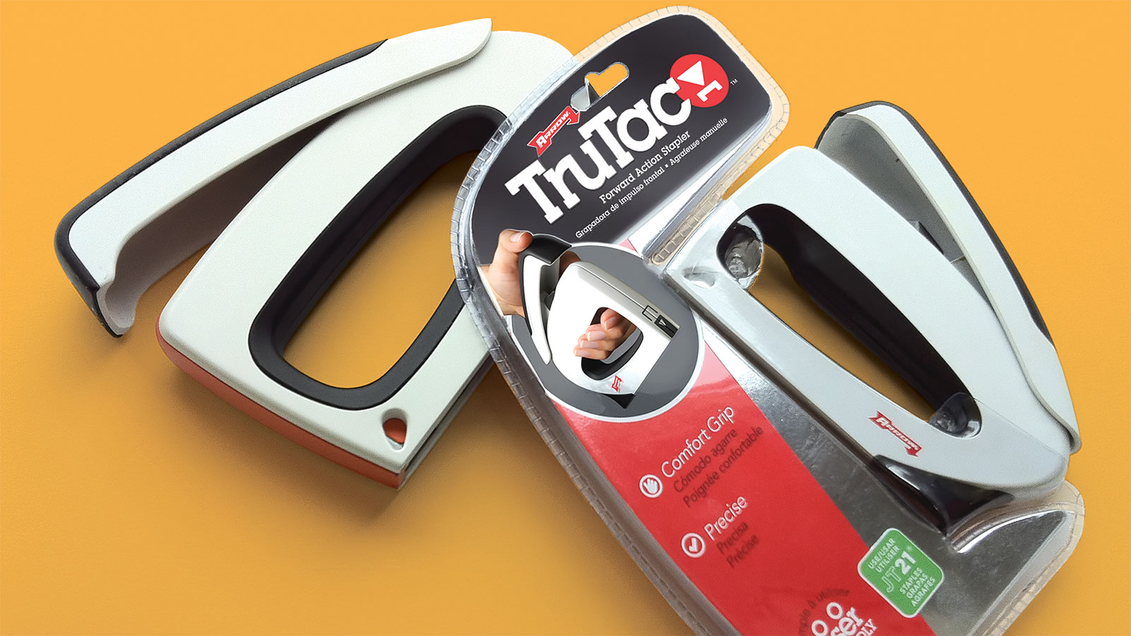 Arrow TruTac stapler packaging design